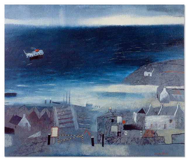 Charlie Baird Paintings The Ferry Outer Hebrides