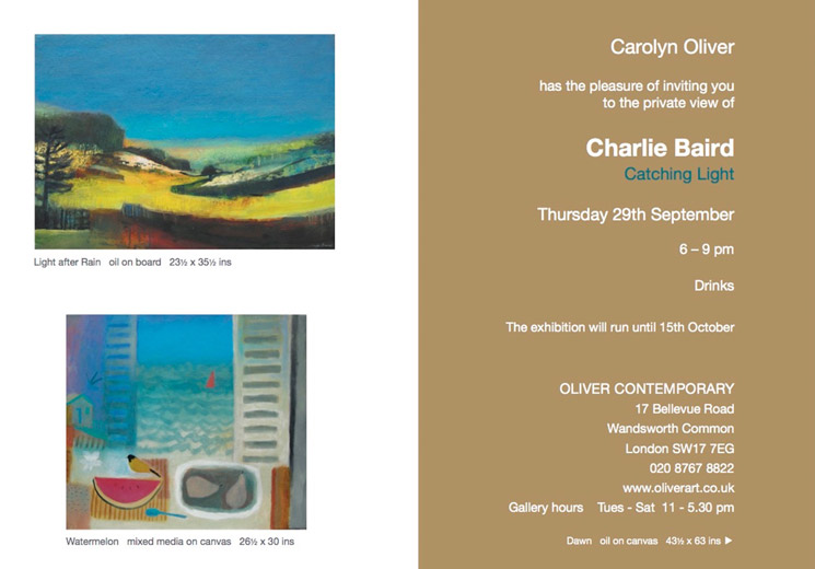 Oliver Contemporary Private View of Charlie Baird - Catching Light